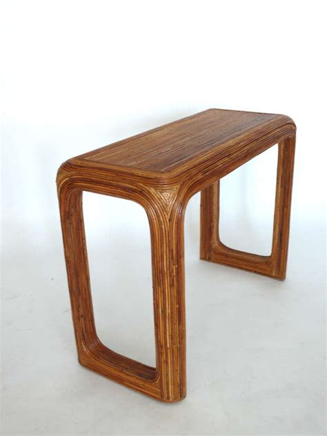 Rattan Console Table Rattan Console Table At 1stdibs