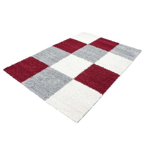 teppich rot gemustert teppich traum hochflor teppiche shaggy kaufen