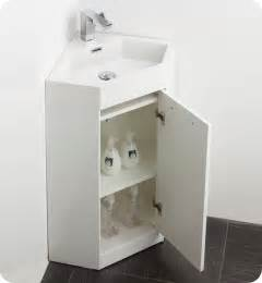 18 bathroom sink fresca coda 18 quot bathroom vanity white modern corner