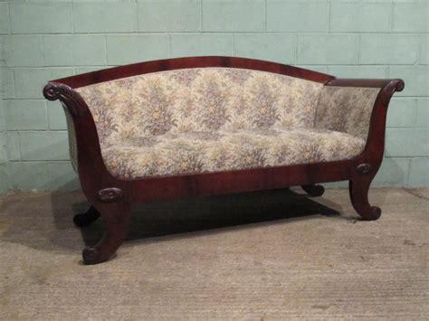 antique victorian sofas antique victorian mahogany flat back sofa antiques atlas