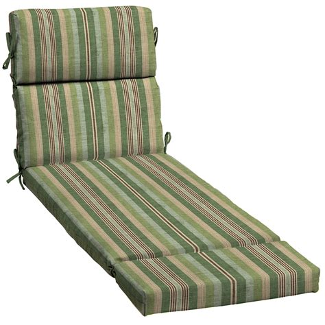 allen roth outdoor furniture cushions shop allen roth 1 green stripe patio chaise lounge