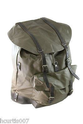 Swiss Army P M G 105ma swiss army backpack army surplus leather straps and bottom