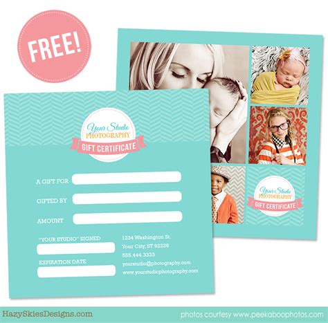 templates for photographers free gift certificate template for photographers logo