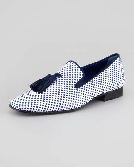 polka dot loafers hadleigh s polka dot print tassel loafer