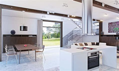 Ultra Modern Home Plans Open Kitchen Design Decobizz Com