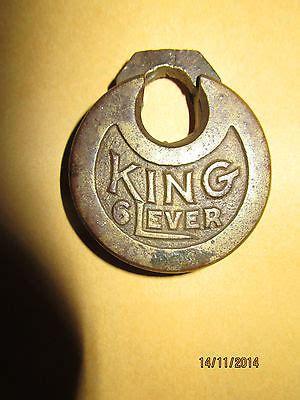 Lever Push Rx King Set antique padlocks price guide
