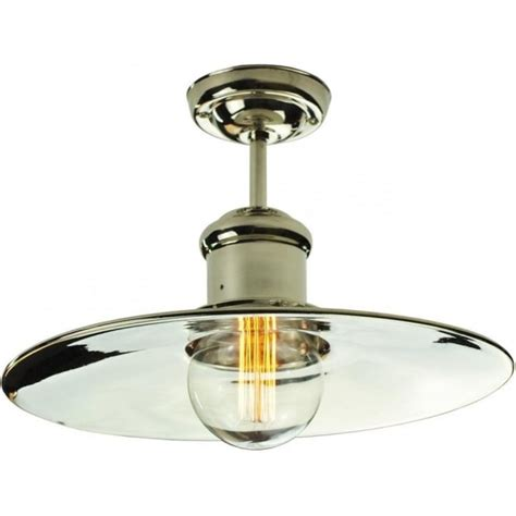 Flush Fitting Ceiling Lights Uk Semi Flush Fitting Low Ceiling Light In Industrial Vintage Style