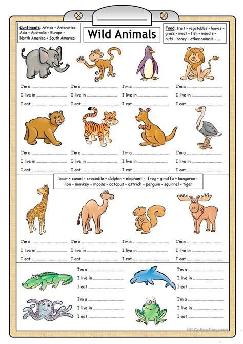 libro wild animals of the 80 free esl wild animals worksheets for kindergarten pdf reading writing worksheet fun