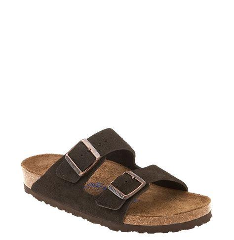 birkenstock designer sandals birkenstock arizona soft footbed suede sandal in black