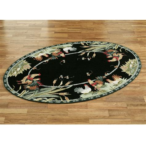 Hen Rug by Rooster And Hens Oval Rugs