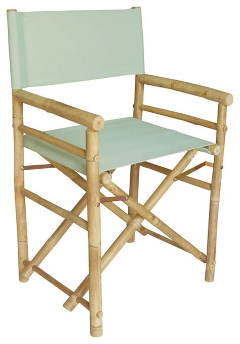 Director Chair Bar Stools by Bamboo Director S Chair Set Of 2 Celadon Outdoor Bar