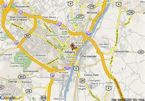 map of hton inn suites albany downtown ny albany