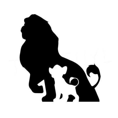 5 5 quot lion king silhouette vinyl decal sticker car window