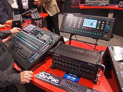 Mixer Allen Heat Qu allen heath releases qu pac ultra compact digital mixer