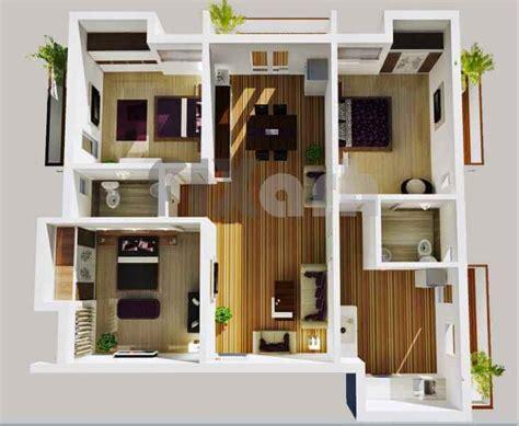 denah rumah minimalis  kamar tidur  tiga dimensi fimell