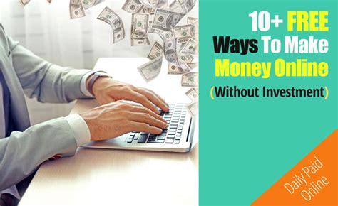 Make Money Online From Home Legit Free - 10 free ways to make money online and work from home