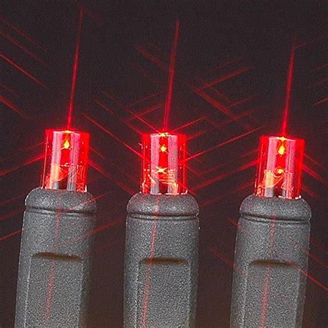 Wide Angle Red 100 Bulb Led Christmas Lights Sets On Black Wide Angle Lights