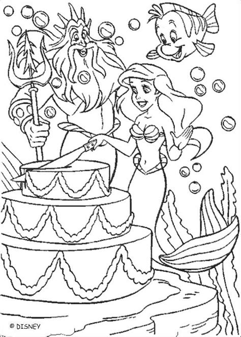 coloring pages disney little mermaid the little mermaid coloring pages ariel s birthday cake