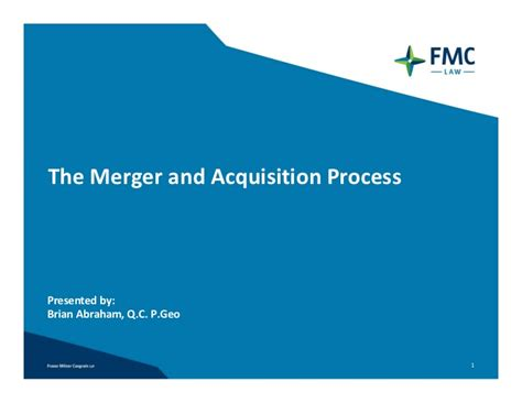 Merger And Acquisition Mba Ppt by The Merger And Acquisition Process