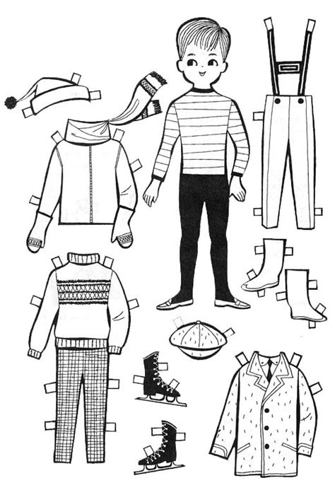 Make Cut Out Paper Dolls - for paper dolls to color and cut out