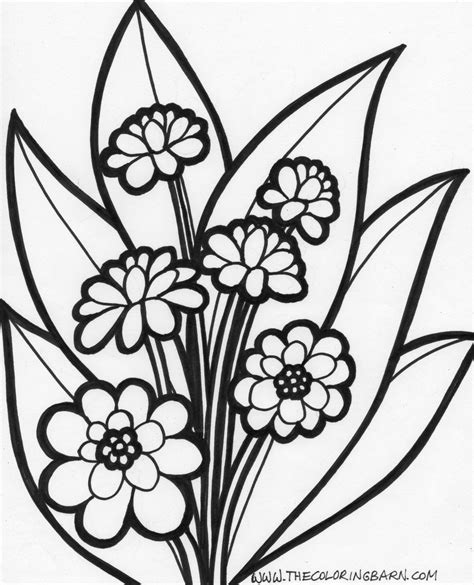 coloring pages large flowers flowers coloring pages free large images