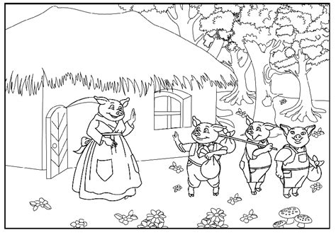 printable coloring pages three little pigs three little pigs coloring book coloring pages