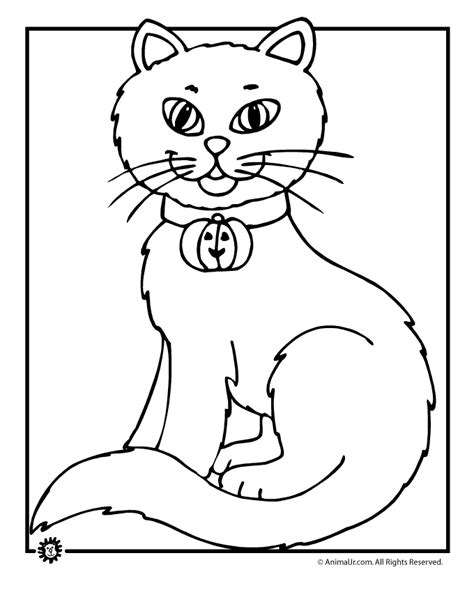 coloring pages of a black cat for halloween coloring page cats coloring home