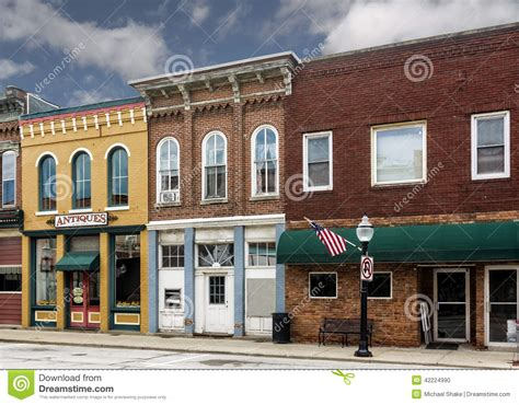 Model Homes Decorated small town main street shops stock photo image 42224990