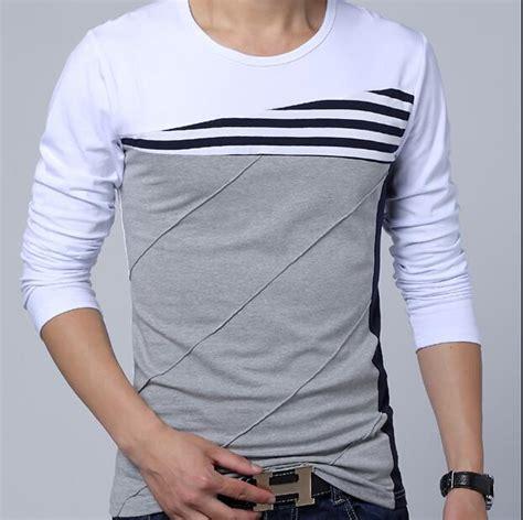 Louis Casual Design V Neck T Shirts Ungu Tua mens sleeve t shirts sale shirts rock