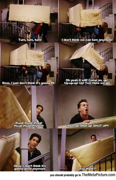 friends couch pivot this scene will never stop being funny