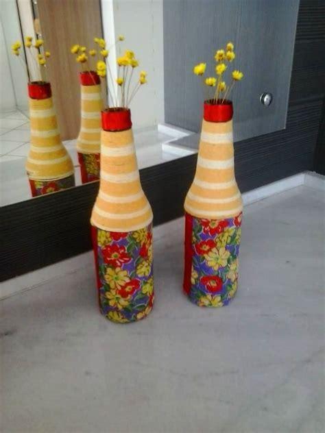 die besten 25 garrafas decoradas com barbante ideen auf