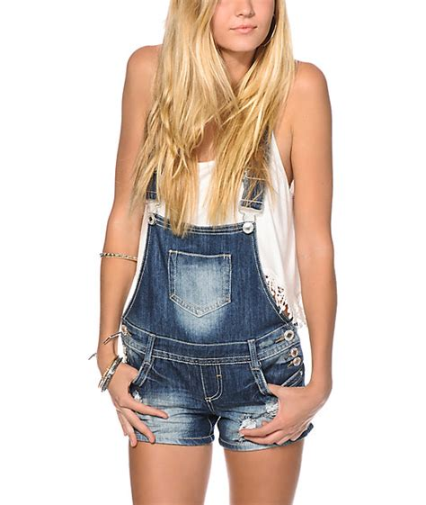 Set Overal Back To Cross almost cross back overall shorts at zumiez pdp