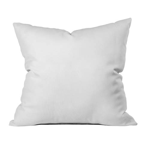 deny designs white throw pillow deny designs