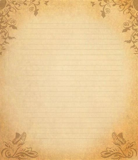 Letter Background Template Letter Paper Viii By Spidergypsy On Deviantart