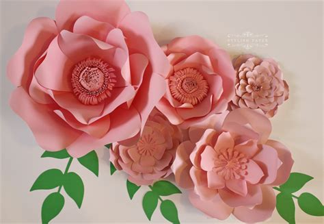 Www Paper Flowers - large pink flowers pink paper flower centerpiece paper