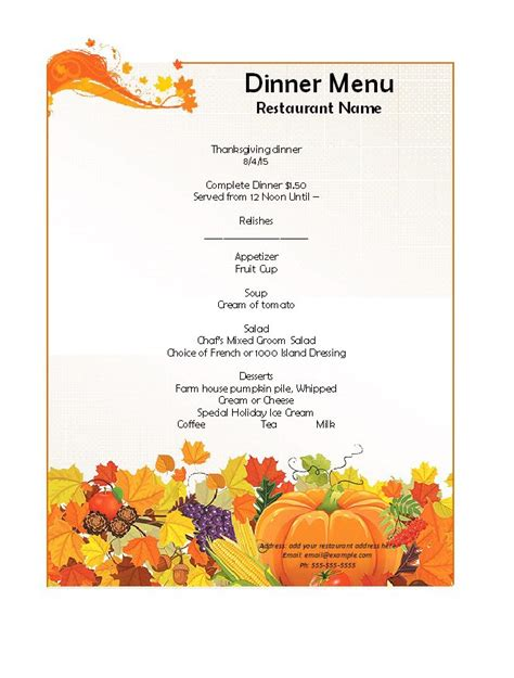 free dinner menu template 38 free dinner menu templates bates on design