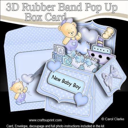3d baby card templates 3d new baby boy rubber band pop up box card cup527258