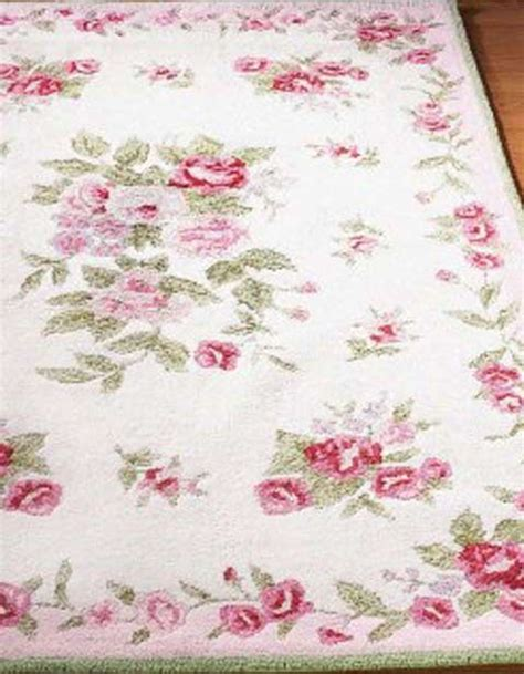 rosy chic rug shabby chic cottages and green on