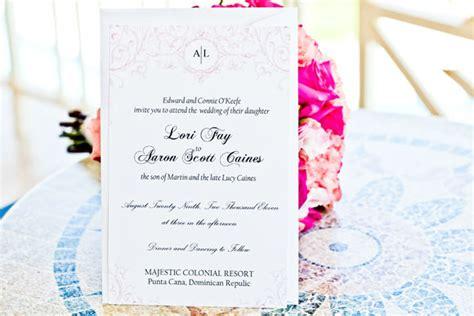 destination wedding invitations punta cana a simple destination wedding in punta cana