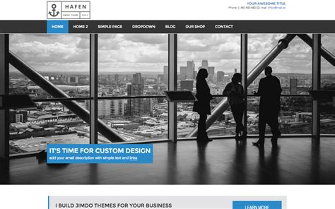 layout jimdo html hafen official website