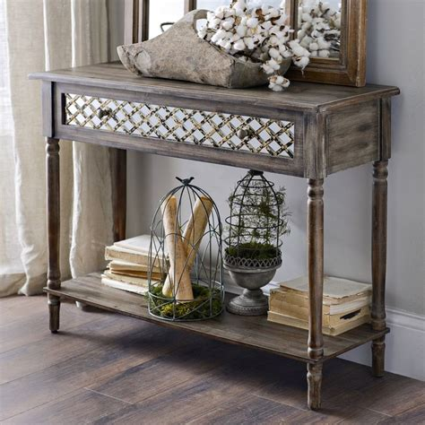 Distressed Entryway Table Distressed Rustic Mirrored Console Table Entryway Ideas Console Tables And Entryway Decor
