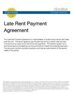 Agreement Letter For Late Payment Free Demand For Payment Letter Late Rent Payment Agreement Documents