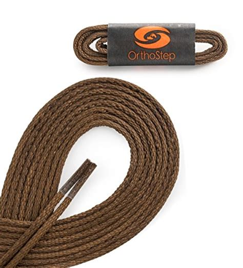 Dress Shoe Laces 24 by Orthostep Waxed Thin Dress Light Brown 24 Inch Shoelaces 2 Pair Pack