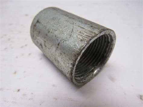 emt electrical metal tubing conduit galvanized steel conduit coupling rigid galvanized steel 1 in ebay