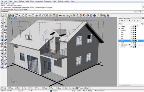 home design 3d video tutorial modeling a simple house part 2 rhinoceros 3d help
