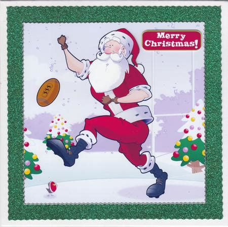 quick printable christmas cards rugby santa dude 8x8 quick card photo by susan cummings