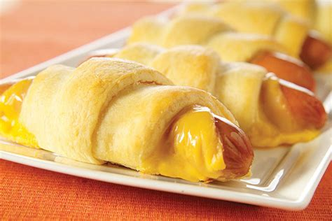 crescent dogs cheesy crescent dogs kraft recipes