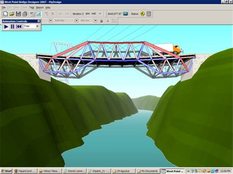lomba desain jembatan west point bridge designer freeware jembatan fach