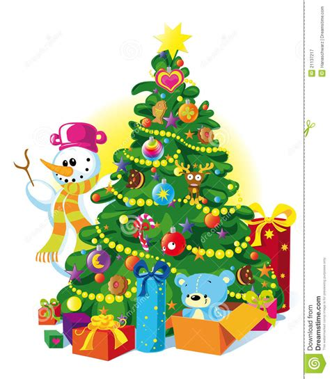 happy christmas tree royalty free stock photography