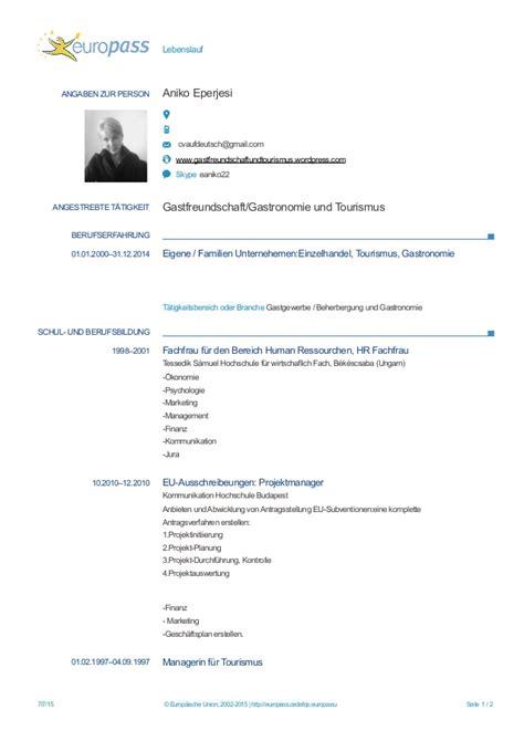Lebenslauf Vorlage Careesma Europass Cv 20150707 Eperjesi De 252